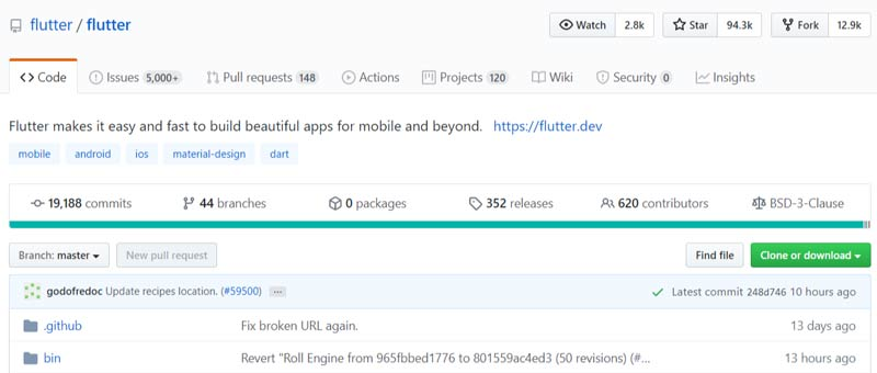 flutter web app development