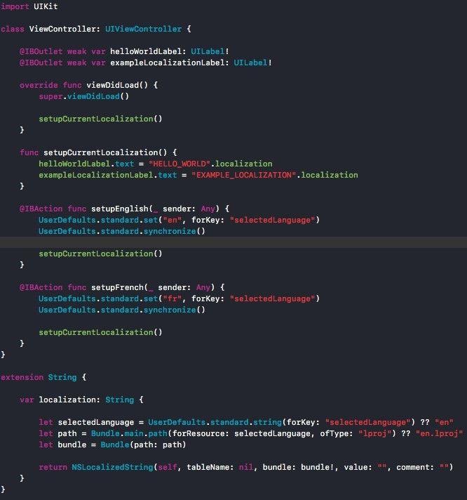 multilingual app development