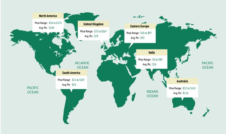 development cost worldwide