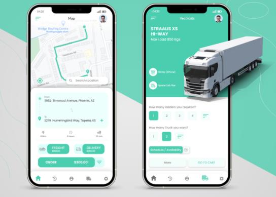 driver truck logistics app