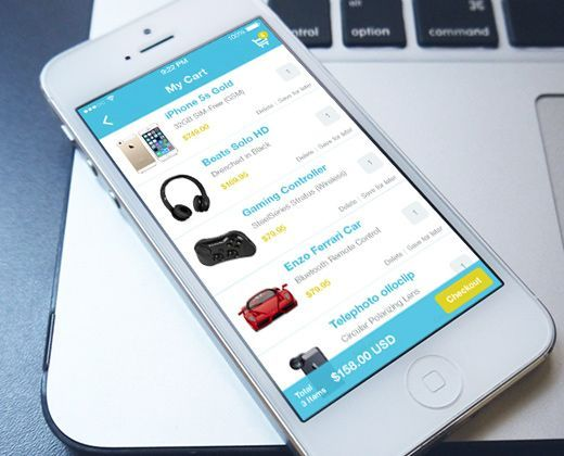 shopping cart mobile app retail