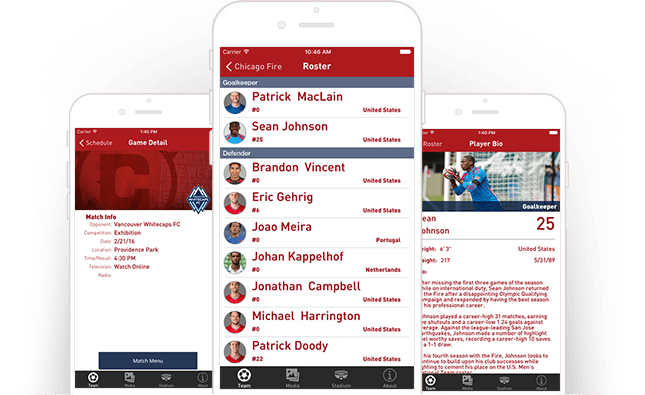 Fan App for Chicago Fire