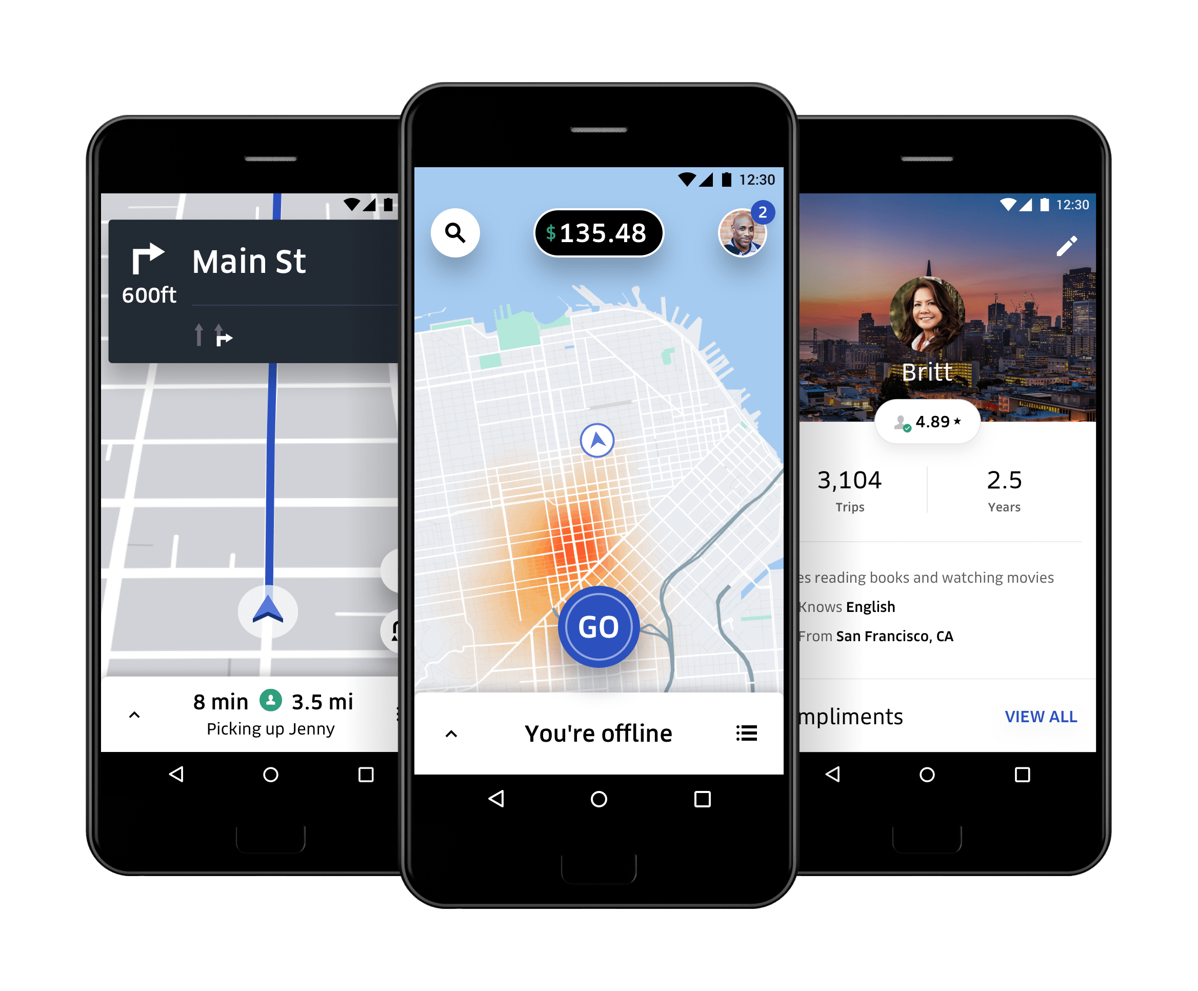 rideshare app features