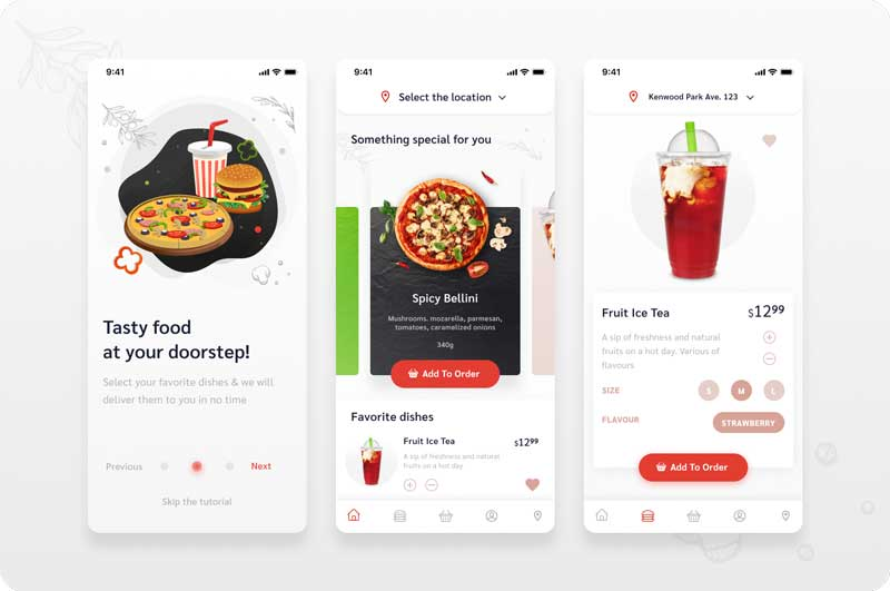 design food delivery app