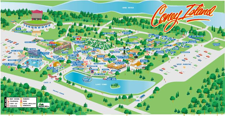 amusement park map mobile app