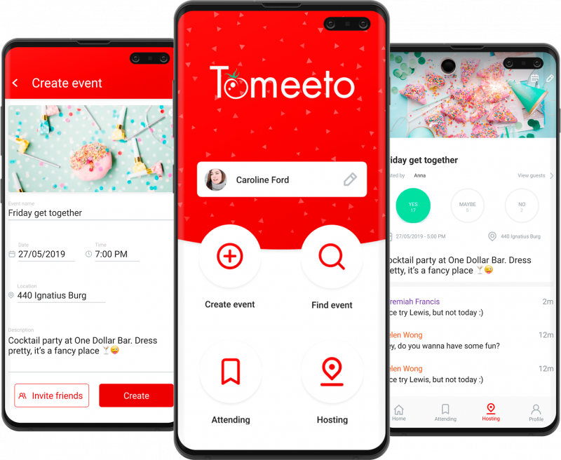 Tomeeto — A simple social app for hosting and organizing private events