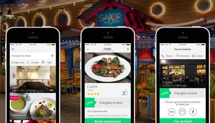 restaurant reservation app amusement parks