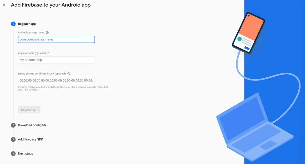 firebase Android flutter