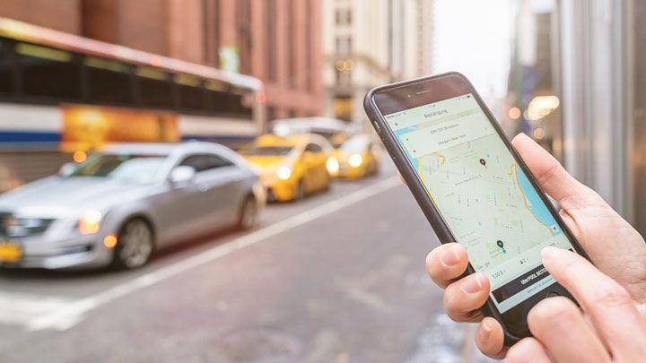ridesharing app mobile