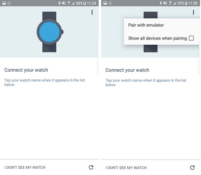 android watch software