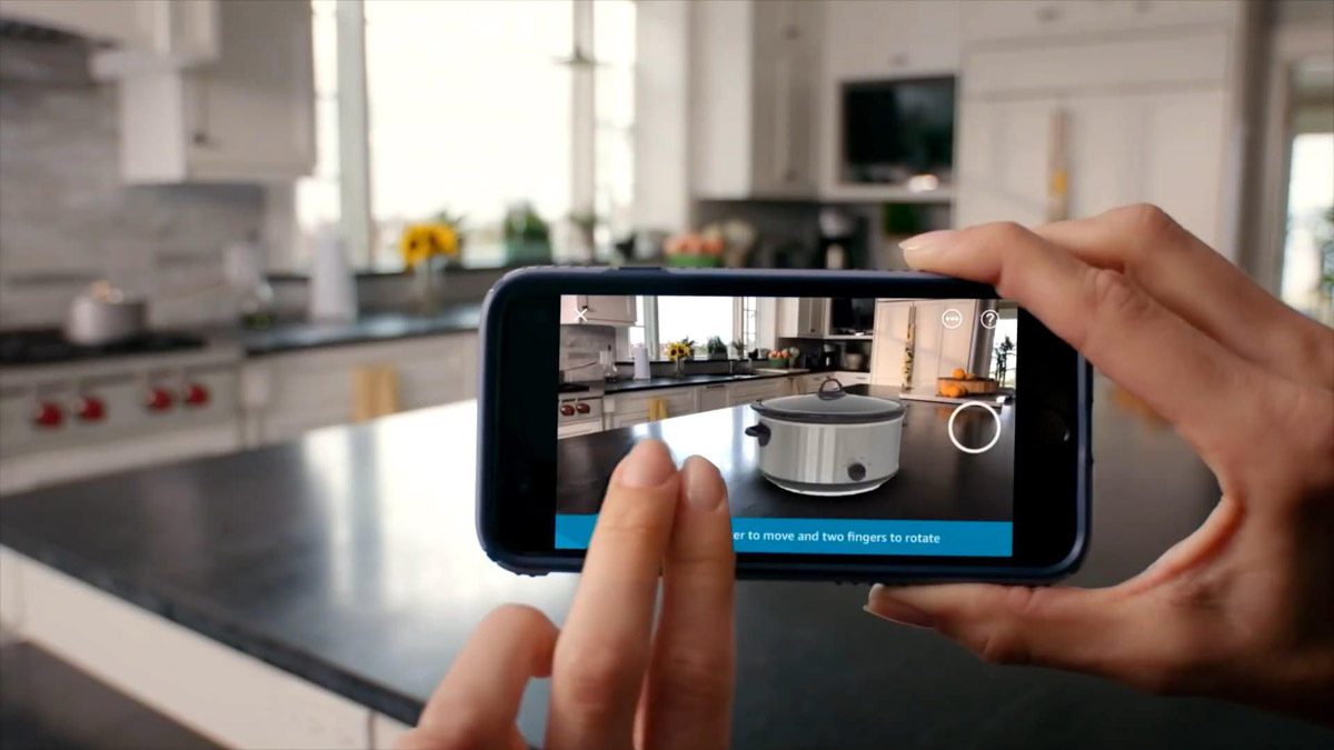 augmented reality mobile app feature