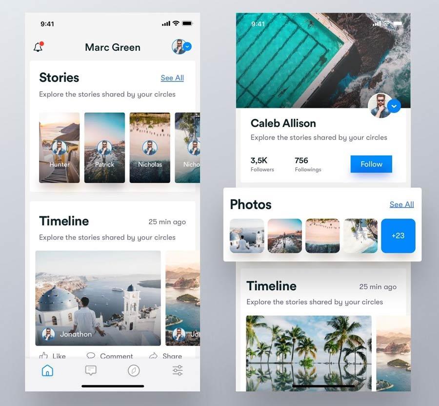 create social media app android