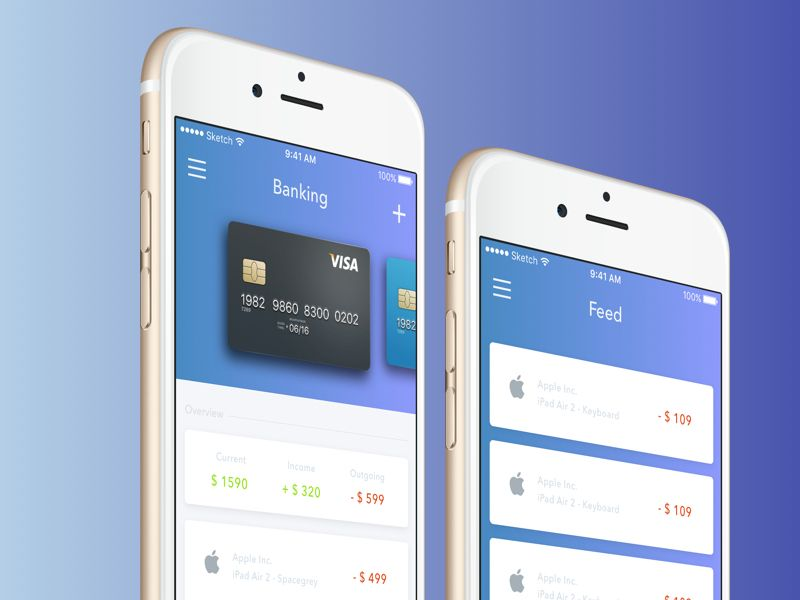user experience banking app