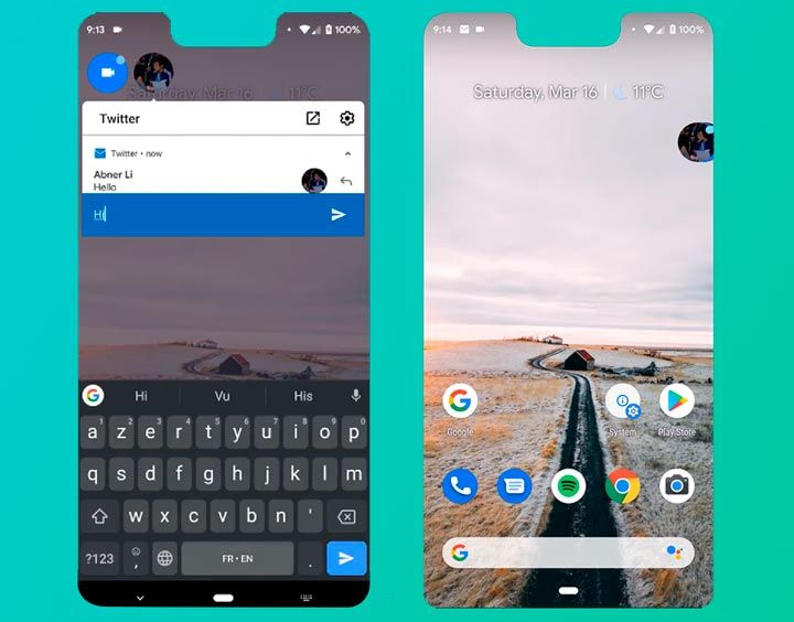 chat bubbles android q