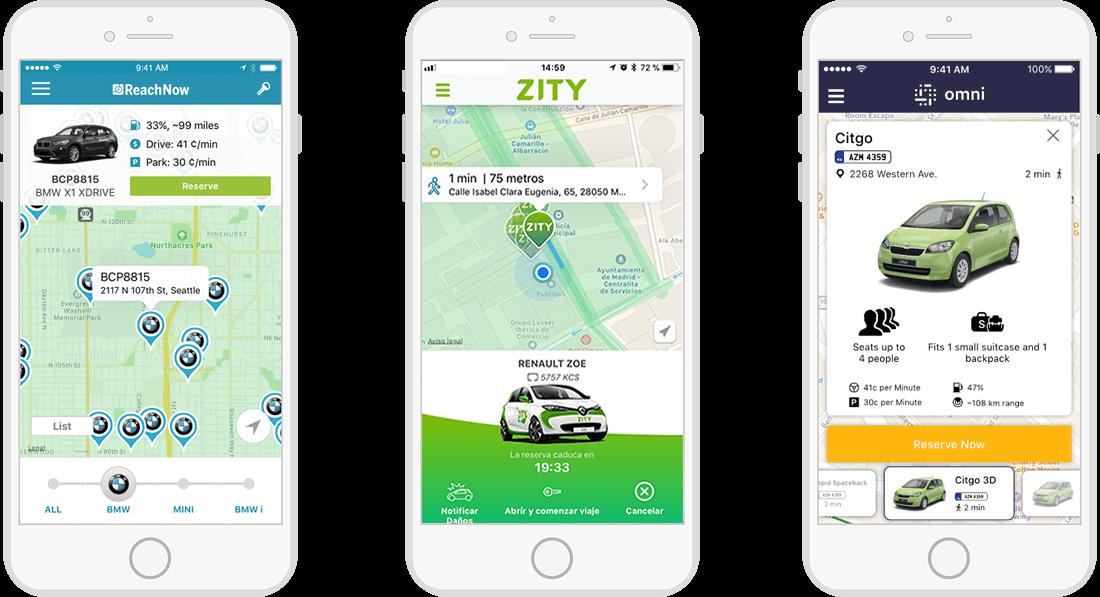 car sharing app development