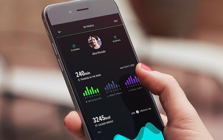 user personal profile fitness app