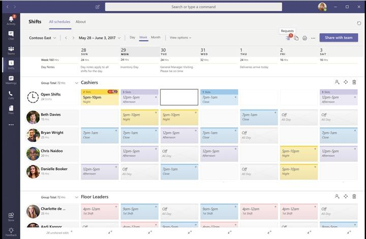 dynamic schedule app development