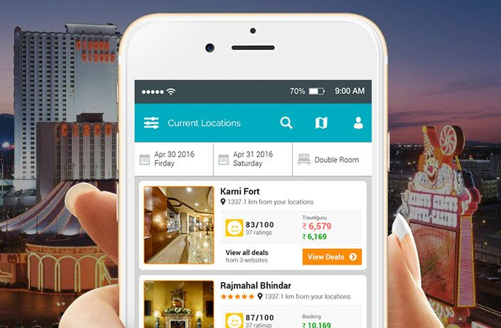 hotel booking amusement park app