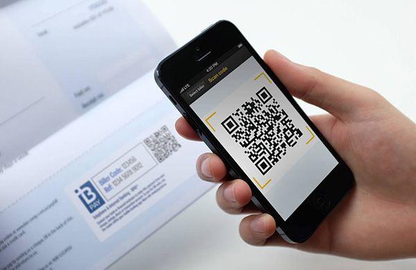 mobile banking qr code scanner