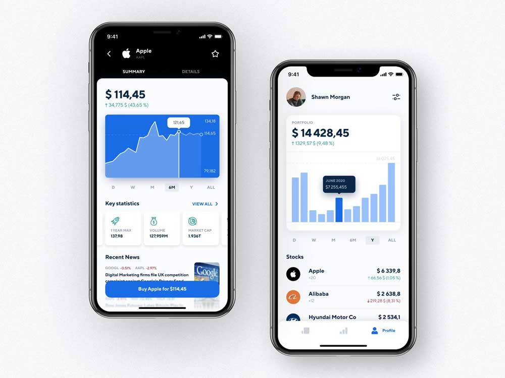 how to create an investment app