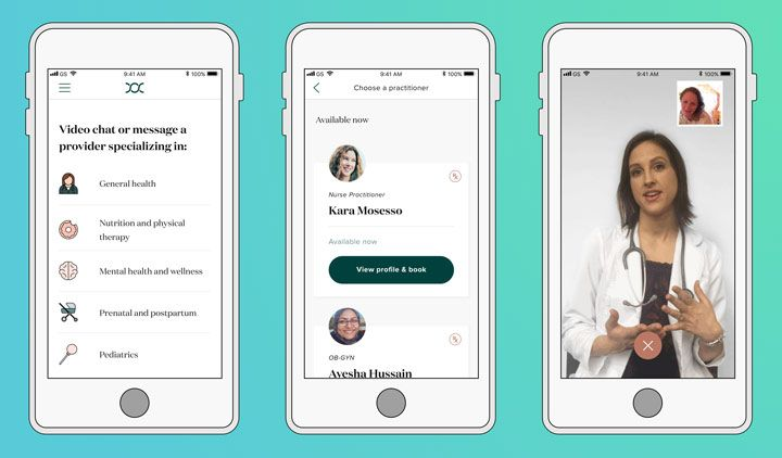 women healthcare femtech mobile app