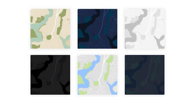 app design map style