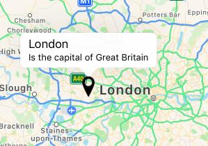 apple maps pin description