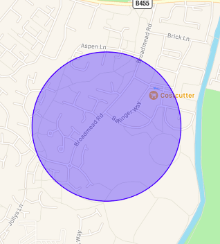 circle overlay apple map