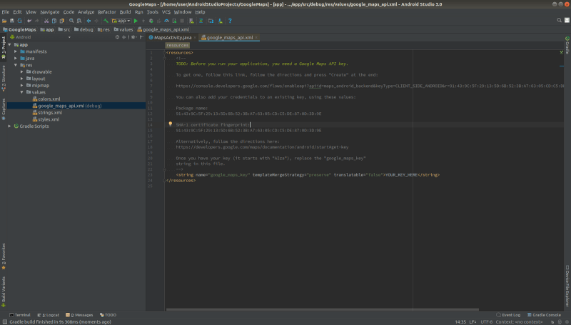 how to create map in android studio