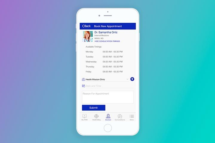 doctor scheduling app development