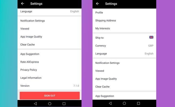 marketplace app settings