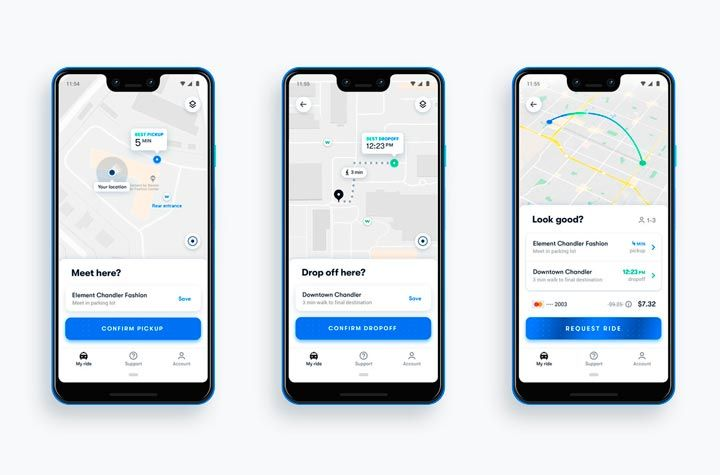 maps integration ridesharing mobile app