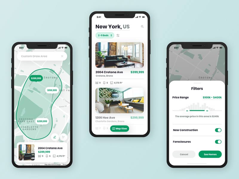 how to create a real estate app