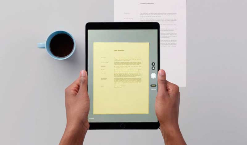 document scanning tablet app