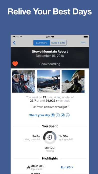 best ski resort app