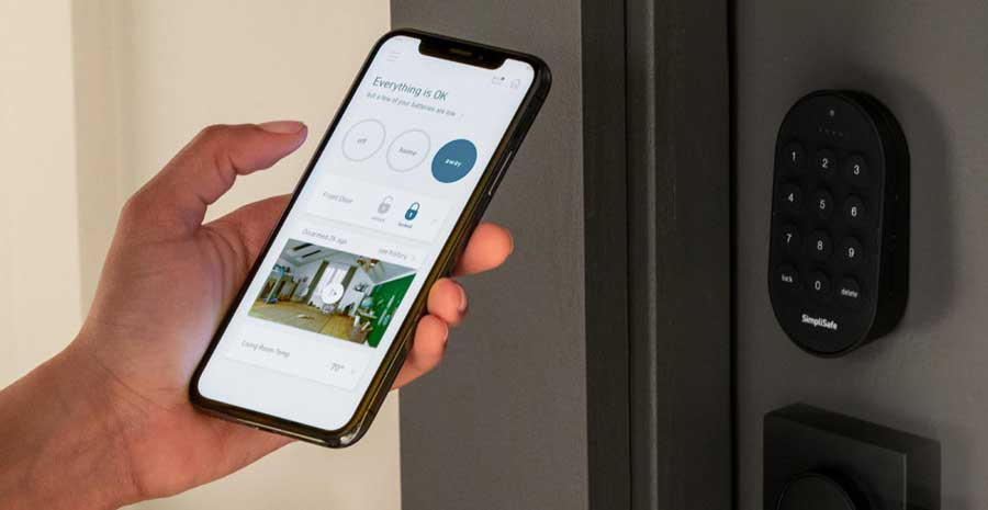 home security linked to phone