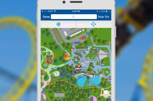 mobile app amusement park map location
