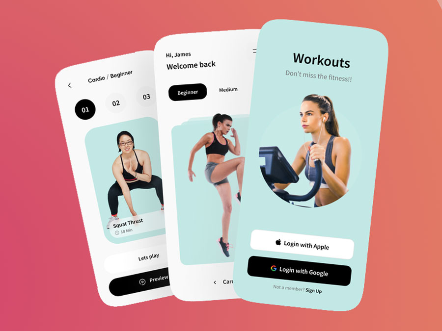 mobile fitness app for gym